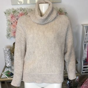 JOE Fresh Cowl Knit Cream Sweater Small